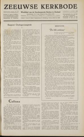 Zeeuwsche kerkbode, weekblad gewijd aan de belangen der gereformeerde kerken/ Zeeuwsch kerkblad 1958-06-06
