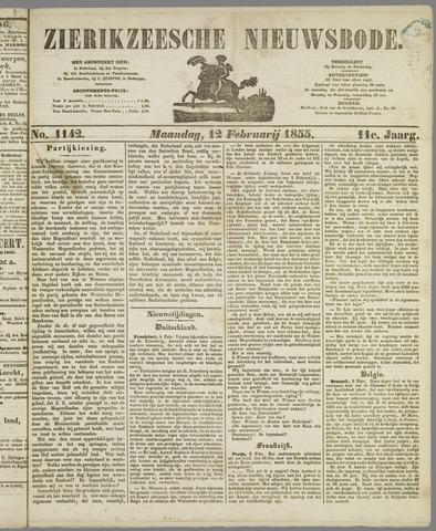 Zierikzeesche Nieuwsbode 1855-02-12