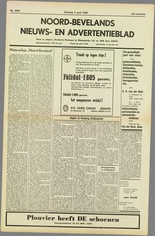 Noord-Bevelands Nieuws- en advertentieblad 1960-04-02