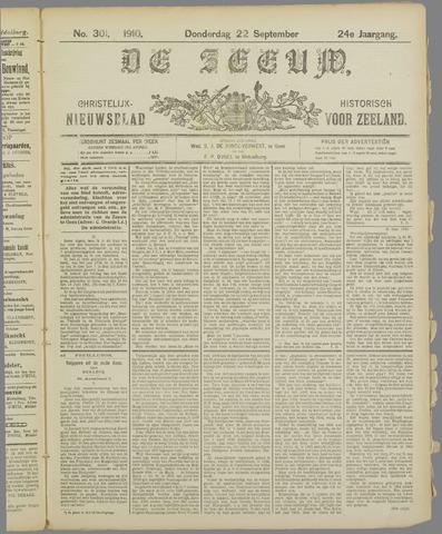 De Zeeuw. Christelijk-historisch nieuwsblad voor Zeeland 1910-09-22