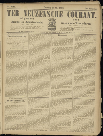 Ter Neuzensche Courant. Algemeen Nieuws- en Advertentieblad voor Zeeuwsch-Vlaanderen / Neuzensche Courant ... (idem) / (Algemeen) nieuws en advertentieblad voor Zeeuwsch-Vlaanderen 1890-05-24