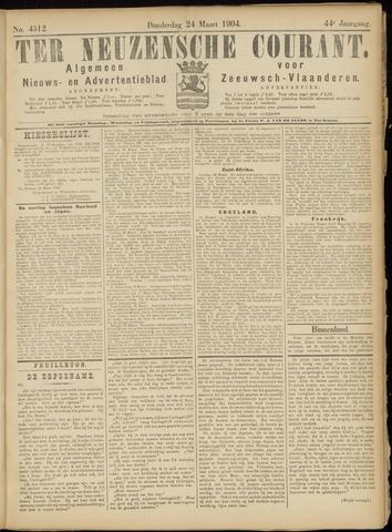Ter Neuzensche Courant. Algemeen Nieuws- en Advertentieblad voor Zeeuwsch-Vlaanderen / Neuzensche Courant ... (idem) / (Algemeen) nieuws en advertentieblad voor Zeeuwsch-Vlaanderen 1904-03-24