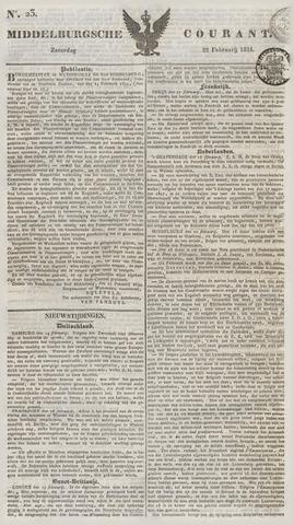 Middelburgsche Courant 1834-02-22