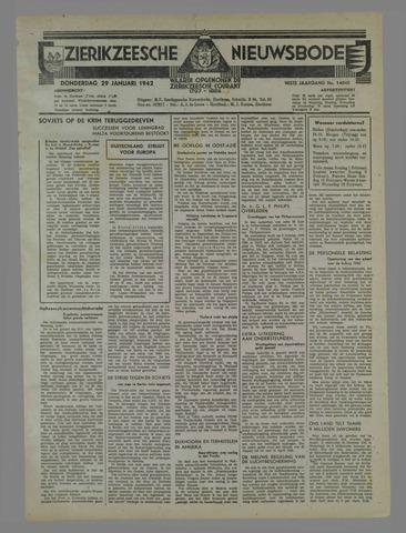 Zierikzeesche Nieuwsbode 1942-01-29