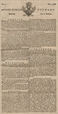 Middelburgsche Courant 1768-01-09