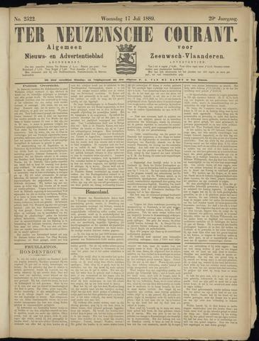 Ter Neuzensche Courant. Algemeen Nieuws- en Advertentieblad voor Zeeuwsch-Vlaanderen / Neuzensche Courant ... (idem) / (Algemeen) nieuws en advertentieblad voor Zeeuwsch-Vlaanderen 1889-07-17