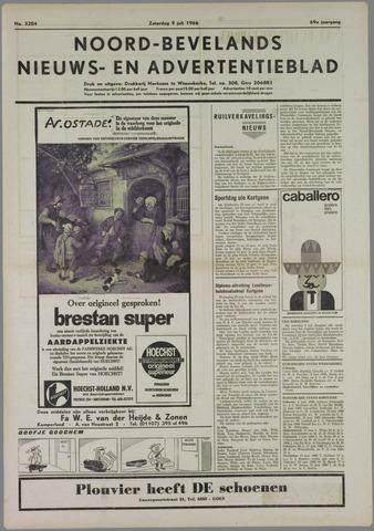 Noord-Bevelands Nieuws- en advertentieblad 1966-07-09