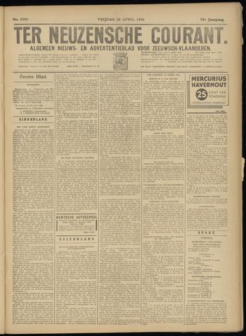 Ter Neuzensche Courant. Algemeen Nieuws- en Advertentieblad voor Zeeuwsch-Vlaanderen / Neuzensche Courant ... (idem) / (Algemeen) nieuws en advertentieblad voor Zeeuwsch-Vlaanderen 1933-04-28