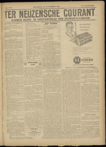 Ter Neuzensche Courant. Algemeen Nieuws- en Advertentieblad voor Zeeuwsch-Vlaanderen / Neuzensche Courant ... (idem) / (Algemeen) nieuws en advertentieblad voor Zeeuwsch-Vlaanderen 1931-11-30