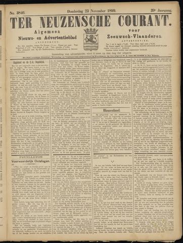 Ter Neuzensche Courant. Algemeen Nieuws- en Advertentieblad voor Zeeuwsch-Vlaanderen / Neuzensche Courant ... (idem) / (Algemeen) nieuws en advertentieblad voor Zeeuwsch-Vlaanderen 1899-11-23