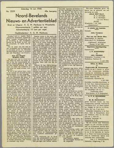 Noord-Bevelands Nieuws- en advertentieblad 1945-07-14