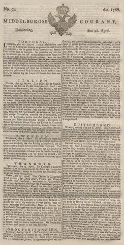 Middelburgsche Courant 1768-04-28