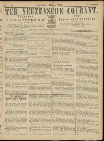 Ter Neuzensche Courant. Algemeen Nieuws- en Advertentieblad voor Zeeuwsch-Vlaanderen / Neuzensche Courant ... (idem) / (Algemeen) nieuws en advertentieblad voor Zeeuwsch-Vlaanderen 1912-02-08