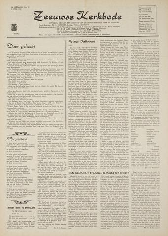 Zeeuwsche kerkbode, weekblad gewijd aan de belangen der gereformeerde kerken/ Zeeuwsch kerkblad 1969-04-03