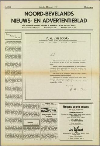 Noord-Bevelands Nieuws- en advertentieblad 1955-01-22