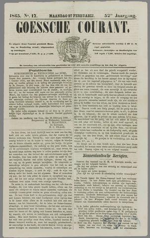 Goessche Courant 1865-02-27