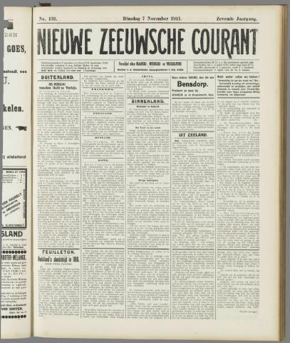 Nieuwe Zeeuwsche Courant 1911-11-07