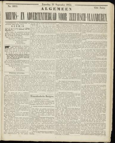 Ter Neuzensche Courant. Algemeen Nieuws- en Advertentieblad voor Zeeuwsch-Vlaanderen / Neuzensche Courant ... (idem) / (Algemeen) nieuws en advertentieblad voor Zeeuwsch-Vlaanderen 1875-09-11