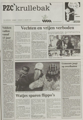 Provinciale Zeeuwse Courant katern Krullenbak (1981-1999) 1996-01-16