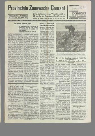 Provinciale Zeeuwse Courant 1940-09-24