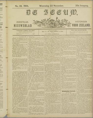 De Zeeuw. Christelijk-historisch nieuwsblad voor Zeeland 1905-11-22