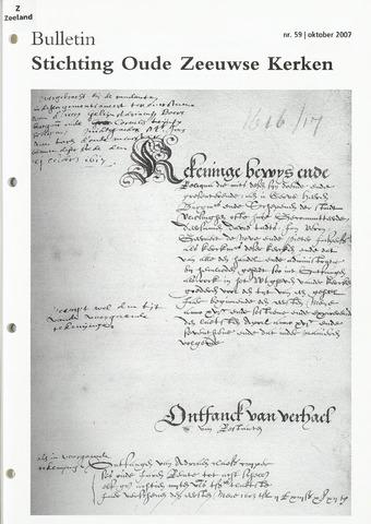Bulletin Stichting Oude Zeeuwse kerken 2007-10-01