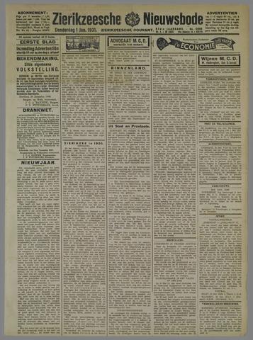 Zierikzeesche Nieuwsbode 1931