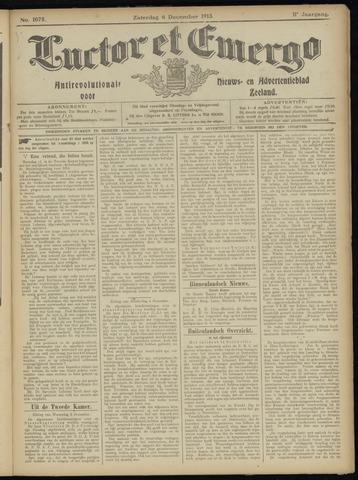 Luctor et Emergo. Antirevolutionair nieuws- en advertentieblad voor Zeeland / Zeeuwsch-Vlaanderen. Orgaan ter verspreiding van de christelijke beginselen in Zeeuwsch-Vlaanderen 1913-12-06