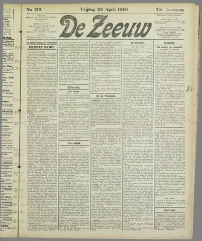De Zeeuw. Christelijk-historisch nieuwsblad voor Zeeland 1920-04-23