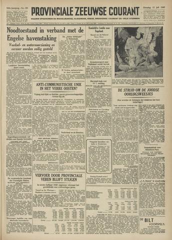Provinciale Zeeuwse Courant 1949-07-12