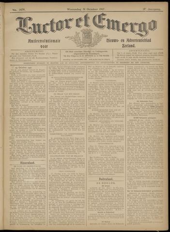 Luctor et Emergo. Antirevolutionair nieuws- en advertentieblad voor Zeeland / Zeeuwsch-Vlaanderen. Orgaan ter verspreiding van de christelijke beginselen in Zeeuwsch-Vlaanderen 1917-10-31