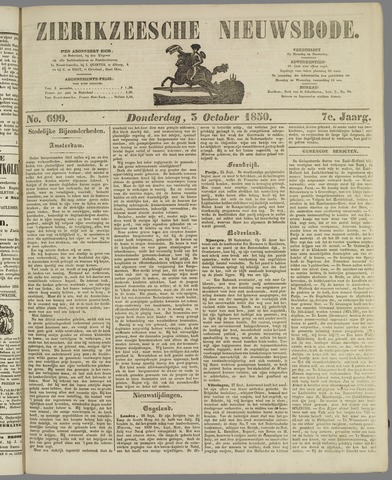 Zierikzeesche Nieuwsbode 1850-10-03