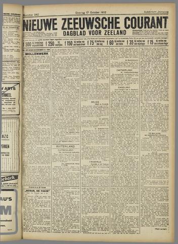 Nieuwe Zeeuwsche Courant 1922-10-17