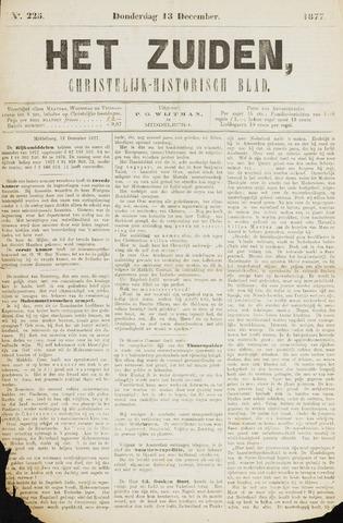 Het Zuiden, Christelijk-historisch blad 1877-12-13