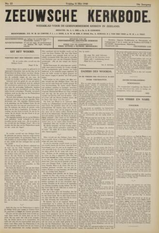 Zeeuwsche kerkbode, weekblad gewijd aan de belangen der gereformeerde kerken/ Zeeuwsch kerkblad 1940-05-31
