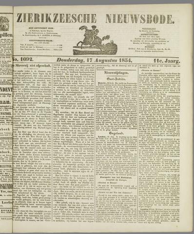 Zierikzeesche Nieuwsbode 1854-08-17