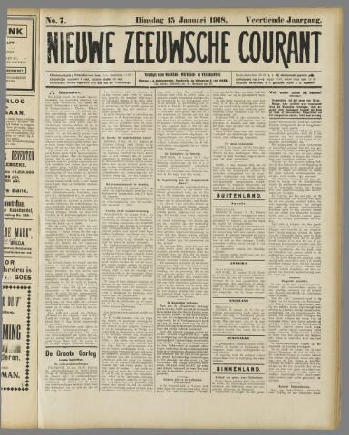 Nieuwe Zeeuwsche Courant 1918-01-15