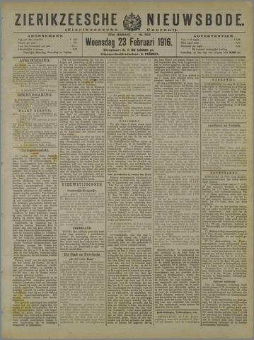 Zierikzeesche Nieuwsbode 1916-02-23