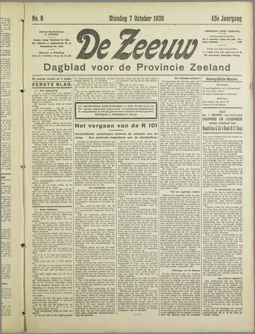 De Zeeuw. Christelijk-historisch nieuwsblad voor Zeeland 1930-10-07