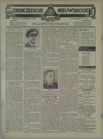 Zierikzeesche Nieuwsbode 1940-08-30