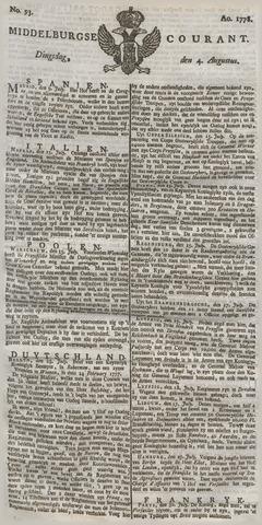 Middelburgsche Courant 1778-08-04