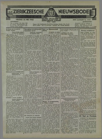 Zierikzeesche Nieuwsbode 1942-05-22