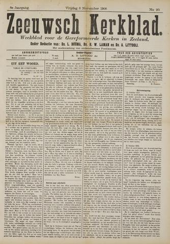 Zeeuwsche kerkbode, weekblad gewijd aan de belangen der gereformeerde kerken/ Zeeuwsch kerkblad 1908-11-06