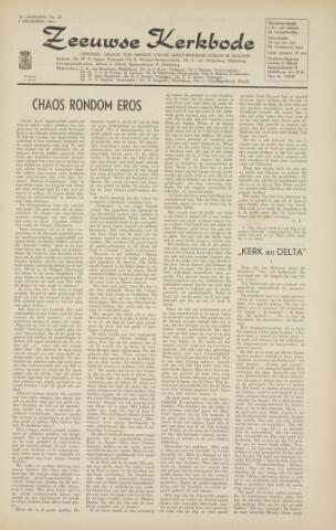 Zeeuwsche kerkbode, weekblad gewijd aan de belangen der gereformeerde kerken/ Zeeuwsch kerkblad 1966-11-25