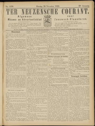 Ter Neuzensche Courant. Algemeen Nieuws- en Advertentieblad voor Zeeuwsch-Vlaanderen / Neuzensche Courant ... (idem) / (Algemeen) nieuws en advertentieblad voor Zeeuwsch-Vlaanderen 1910-11-29