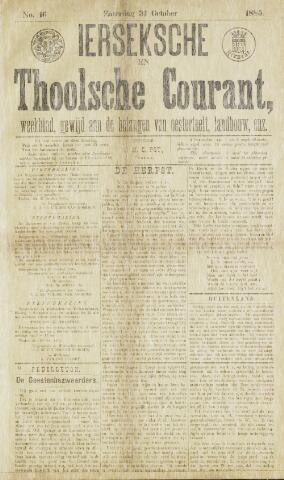 Ierseksche en Thoolsche Courant 1885-10-31