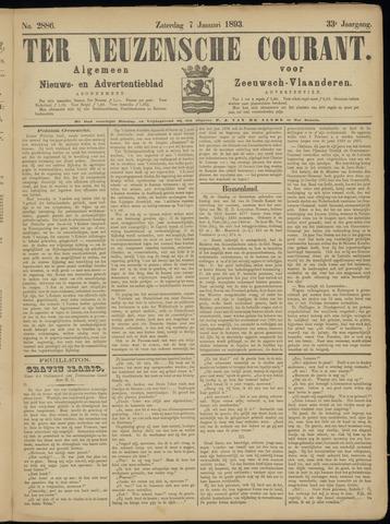 Ter Neuzensche Courant. Algemeen Nieuws- en Advertentieblad voor Zeeuwsch-Vlaanderen / Neuzensche Courant ... (idem) / (Algemeen) nieuws en advertentieblad voor Zeeuwsch-Vlaanderen 1893-01-07