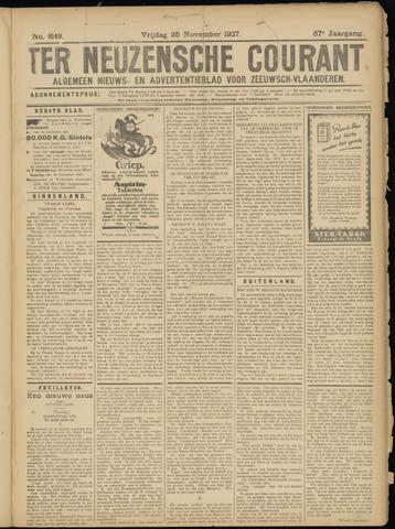 Ter Neuzensche Courant. Algemeen Nieuws- en Advertentieblad voor Zeeuwsch-Vlaanderen / Neuzensche Courant ... (idem) / (Algemeen) nieuws en advertentieblad voor Zeeuwsch-Vlaanderen 1927-11-25