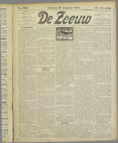 De Zeeuw. Christelijk-historisch nieuwsblad voor Zeeland 1919-08-19