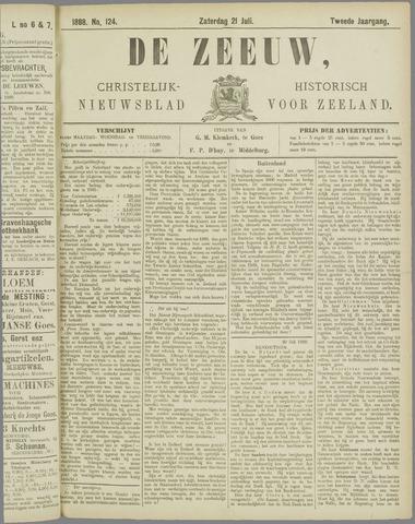 De Zeeuw. Christelijk-historisch nieuwsblad voor Zeeland 1888-07-21